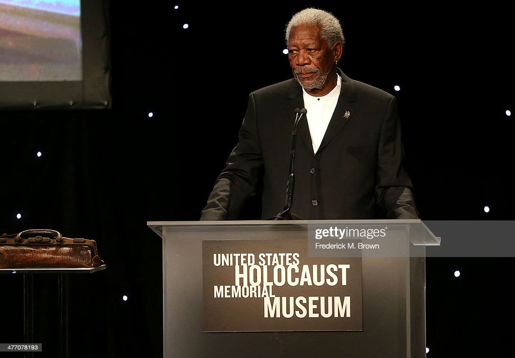 Actor <a gi-track='captionPersonalityLinkClicked' href=/galleries/search?phrase=Morgan+Freeman&family=editorial&specificpeople=169833 ng-click='$event.stopPropagation()'>Morgan Freeman</a> speaks at the United States Holocaust Memorial Museum Presents '2014 Los Angeles Dinner: What You Do Matters' at The Beverly Hilton Hotel on March 6, 2014 in Beverly Hills, California.