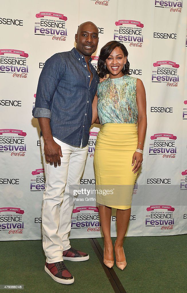 Actor Morris Chestnut and actress Meagan Good attends the 2015 Essence Music Festival on July 3 2015 at Ernest N Morial Convention Center in New...