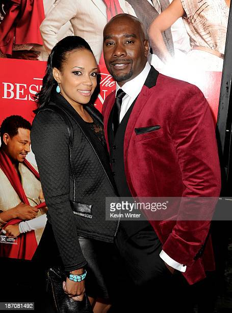 Actor Morris Chestnut and his wife Pam arrive at the premiere of Universal Pictures' 'The Best Man Holiday' at the Chinese Theatre on November 5 2013...