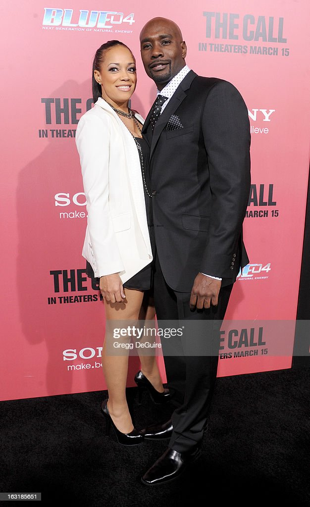 Actor <a gi-track='captionPersonalityLinkClicked' href=/galleries/search?phrase=Morris+Chestnut&family=editorial&specificpeople=707699 ng-click='$event.stopPropagation()'>Morris Chestnut</a> (R) and wife Pam Byse arrive at the Los Angeles premiere of 'The Call' at ArcLight Hollywood on March 5, 2013 in Hollywood, California.