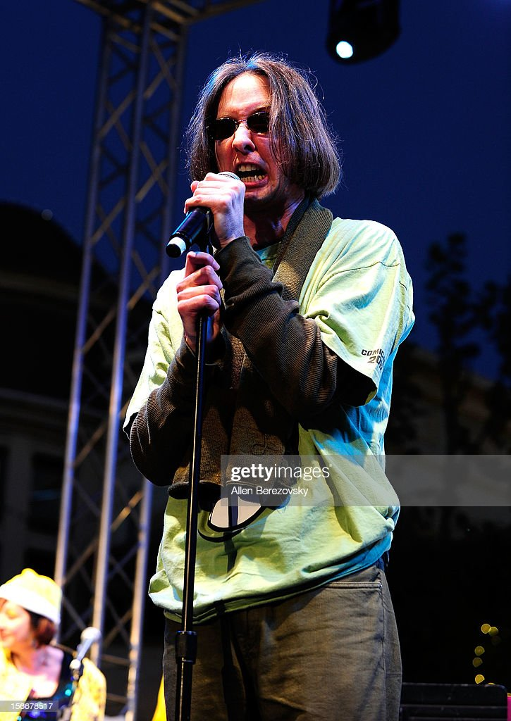 Actor Mr. Lawrence, the voice of Sheldon J. Plankton, performs during 'Spongebob Holiday Extravapants' very special live concert performance hosted by Nickelodeon at The Grove on November 18, 2012 in Los Angeles, California.