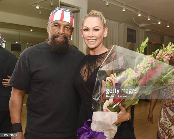 Actor Mr T and dancer Kym Herjavec attend her grand opening of The Bod on May 19 2017 in Beverly Hills California