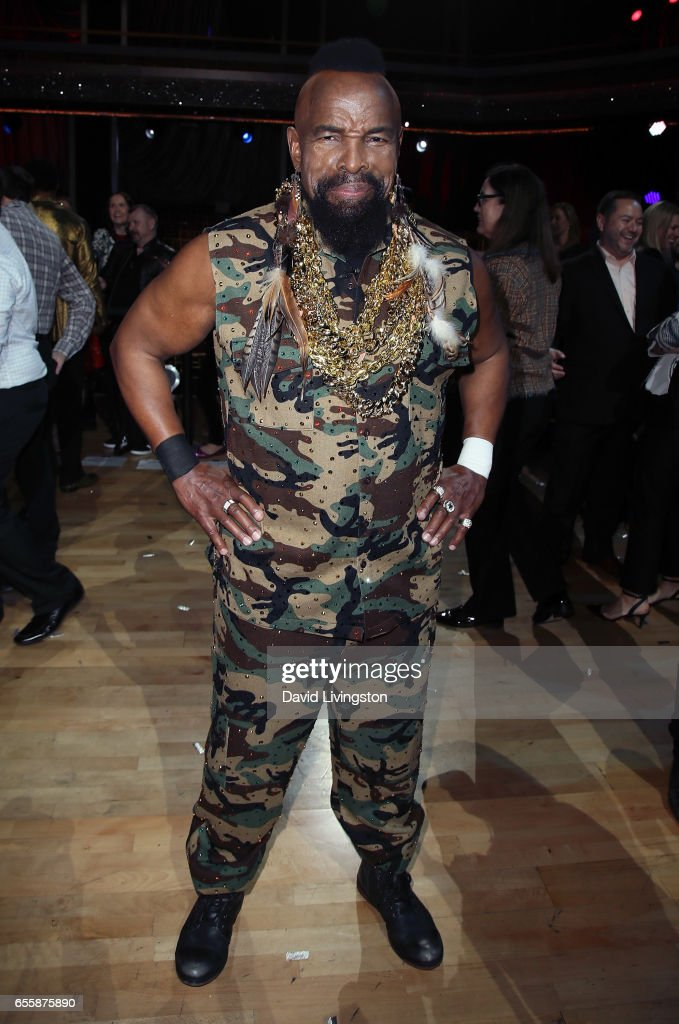 Actor Mr. T attends 'Dancing with the Stars' Season 24 premiere at CBS Televison City on March 20, 2017 in Los Angeles, California.