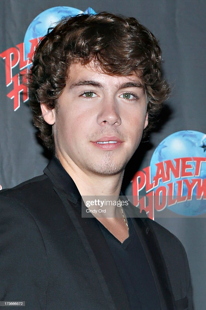 Actor Munro Chambers visits Planet Hollywood Times Square on July 16, 2013 in New York City.