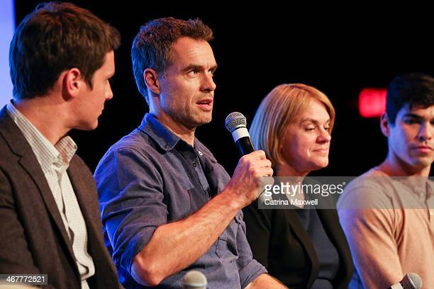 Actor Murray Bartlett speaks at a panel discussion during the aTVfest on February 7 2014 in Atlanta Georgia