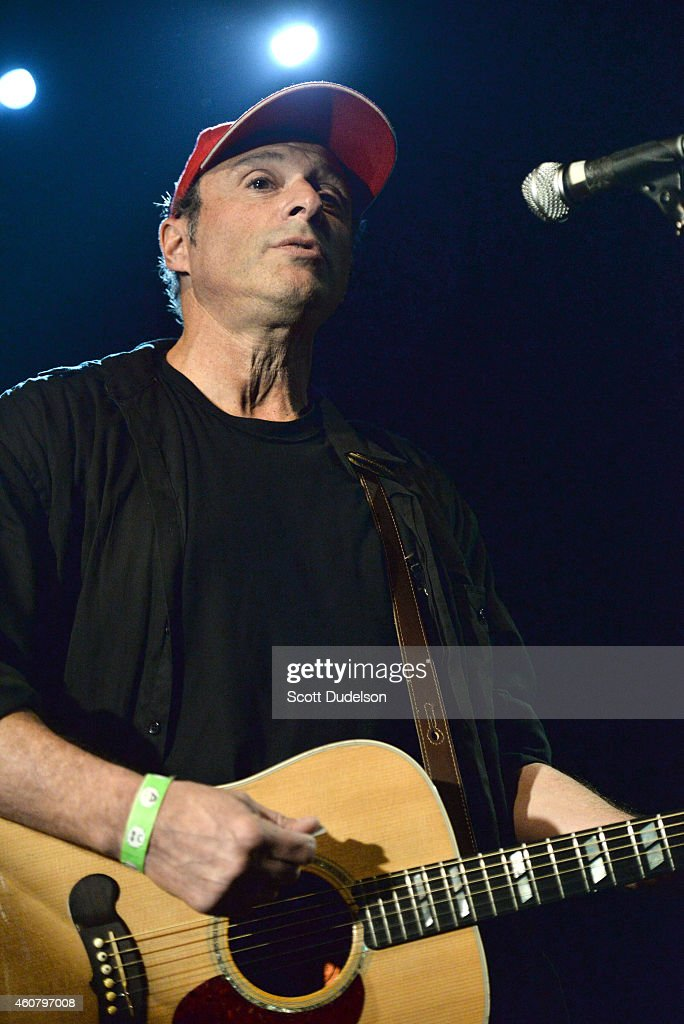 Actor / musician John C Reilly performs on stage during 'Make It Together' a benefit for Josh Schwartz at the Echoplex on December 22 2014 in Los...
