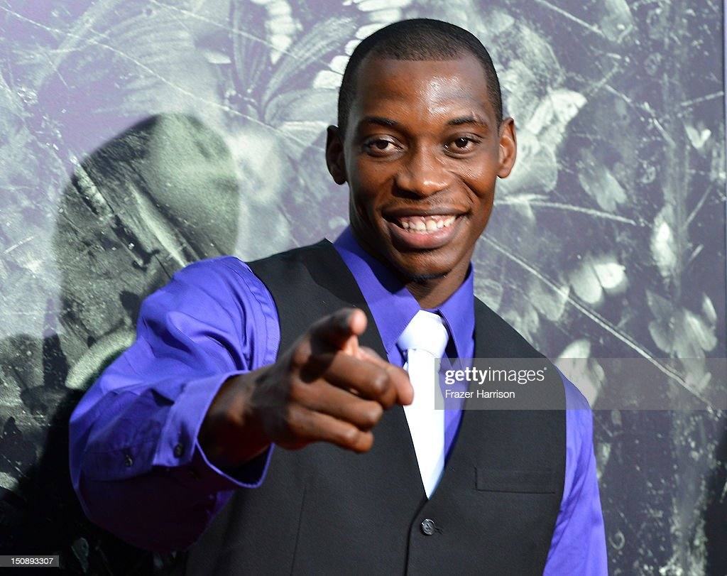 Actor Nana Gbewonyo arrives at the premiere of Lionsgate Films' 'The Possession' at ArcLight Cinemas on August 28, 2012 in Hollywood, California.