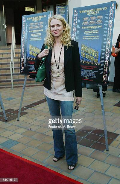 Actor Naomi Watts attends the film premiere of 'Broadway The Golden Age' at Laemmle Sunset Five Theater on June 30 2004 in Hollywood California