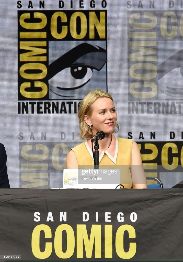 Actor Naomi Watts speaks onstage at Comic-Con International 2017 Twin Peaks: A Damn Good Panel at San Diego Convention Center on July 21, 2017 in San Diego, California.