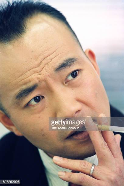 Actor Naoto Takenaka speaks during the Asahi Shimbun interview on January 12 1993 in Tokyo Japan