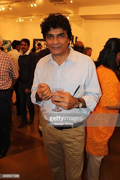 Actor Naseer Abdullah at filmmaker Anu Malhotra's debut art show Hue Borne at Visual Arts Gallery India Habitat Centre on September 2 2014 in New...