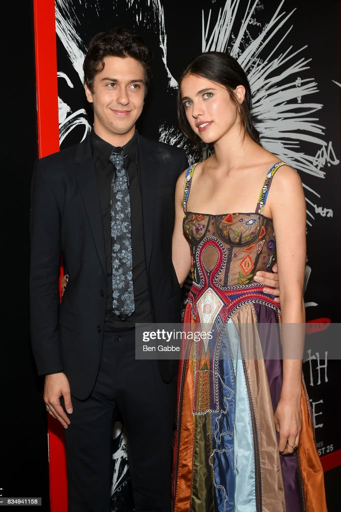 Actor Nat Wolff (L) and actress Margaret Qualley attend the 'Death Note' New York premiere at AMC Loews Lincoln Square 13 theater on August 17, 2017 in New York City.