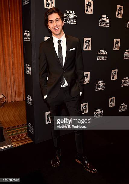 """Actor Nat Wolff attends 2015 Will Rogers """"Pioneer of the Year"""" Dinner Honoring Jim Gianopulos at Caesars Palace during CinemaCon the official..."""