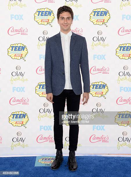 Actor Nat Wolff attends FOX's 2014 Teen Choice Awards at The Shrine Auditorium on August 10 2014 in Los Angeles California