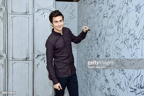Actor Nat Wolff attends the AOL Build Presents 'Ashby' at AOL Studios on September 23 2015 in New York City