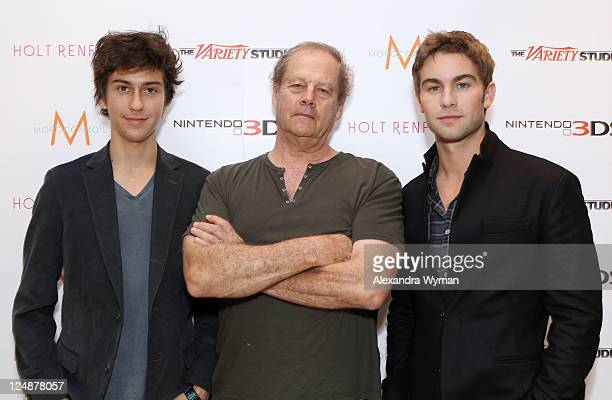 Actor Nat Wolff director Bruce Beresford and actor Chace Crawford attends day 4 of The Variety Studio Presented by Nintendo 3DS at Holt Renfrew...