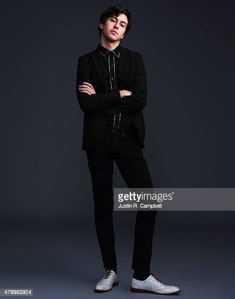Actor Nat Wolff is photographed for Just Jared on March 11 2015 in Los Angeles California