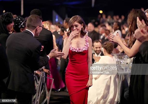 Actor Natalia Dyer during The 23rd Annual Screen Actors Guild Awards at The Shrine Auditorium on January 29 2017 in Los Angeles California 26592_012