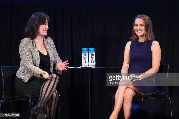 Actor Natalie Portman and journalist Jada Yuan speak onstage during Vulture Festival LA presented by ATT at Hollywood Roosevelt Hotel on November 19...