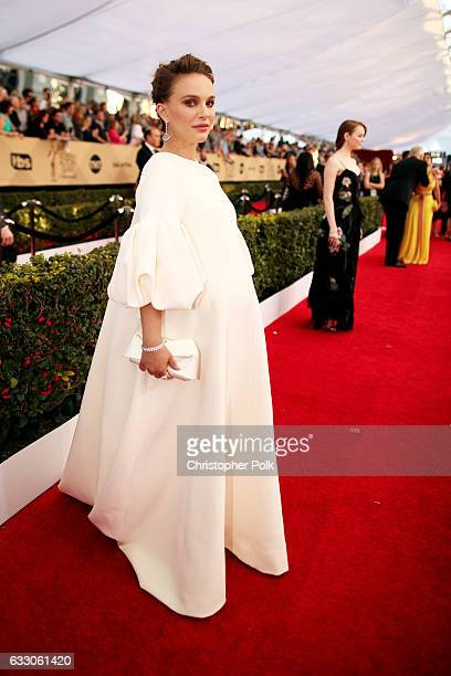 Actor Natalie Portman attends The 23rd Annual Screen Actors Guild Awards at The Shrine Auditorium on January 29 2017 in Los Angeles California...