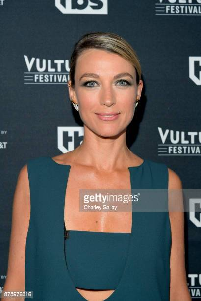 Actor Natalie Zea attends 'The Detour' panel during Vulture Festival LA Presented by ATT at Hollywood Roosevelt Hotel on November 18 2017 in...