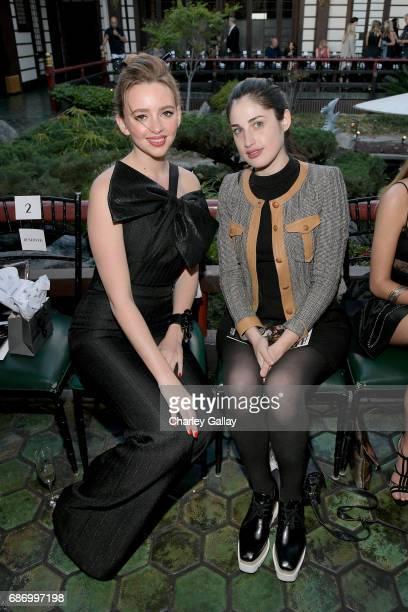 Actor Natasha Bassett and guest at the Wolk Morais Collection 5 Fashion Show at Yamashiro on May 22 2017 in Los Angeles California