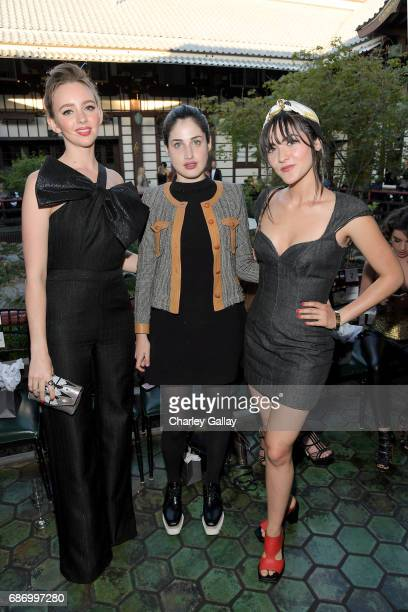 Actor Natasha Bassett and Isabelle Fuhrman with guest at the Wolk Morais Collection 5 Fashion Show at Yamashiro on May 22 2017 in Los Angeles...