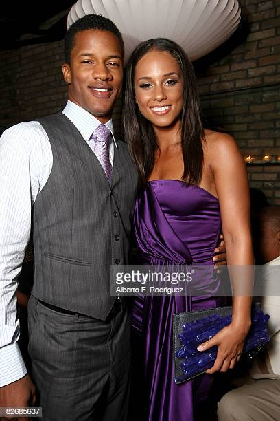 Actor Nate Parker and actress Alicia Keys attend the 'The Secret Life Of Bees' premiere after party during the 2008 Toronto International Film...
