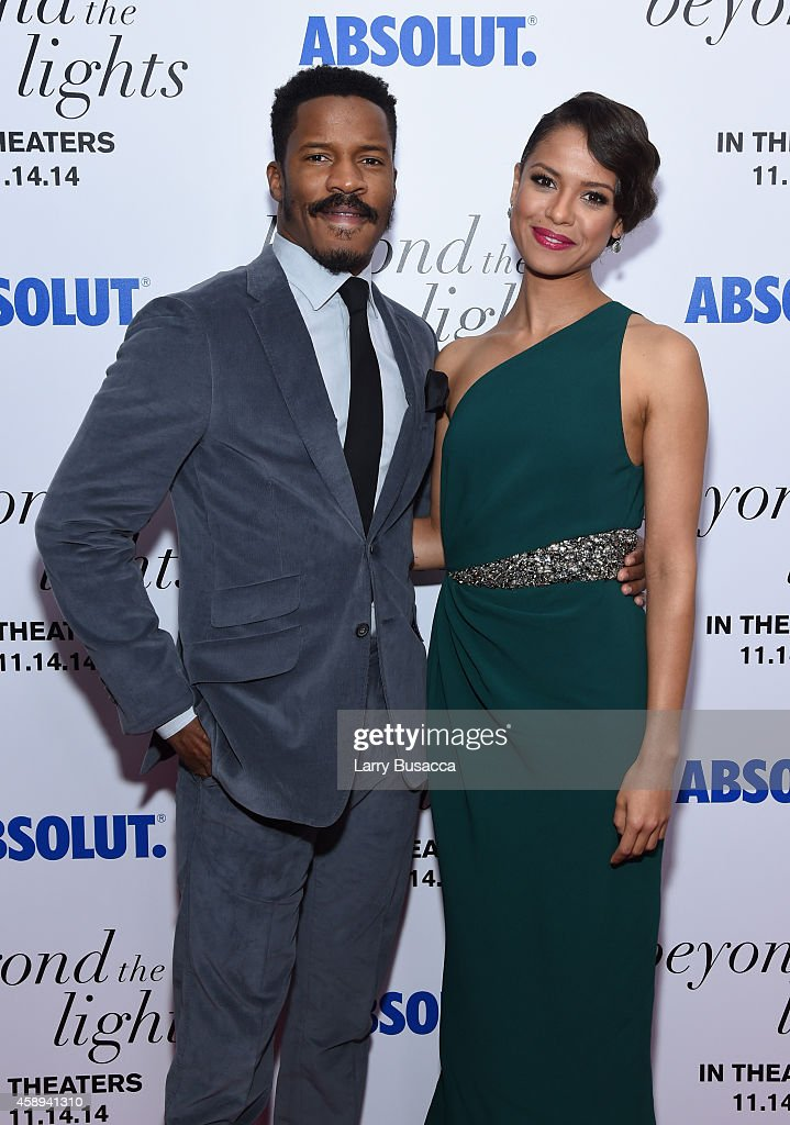 Actor Nate Parker and Gugu MbathaRaw attend The New York Premiere Of Relativity Media's 'Beyond the Lights' at Regal Union Square Stadium on November...