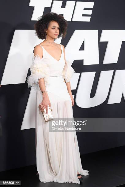 Actor Nathalie Emmanuel attends 'The Fate Of The Furious' New York Premiere at Radio City Music Hall on April 8 2017 in New York City