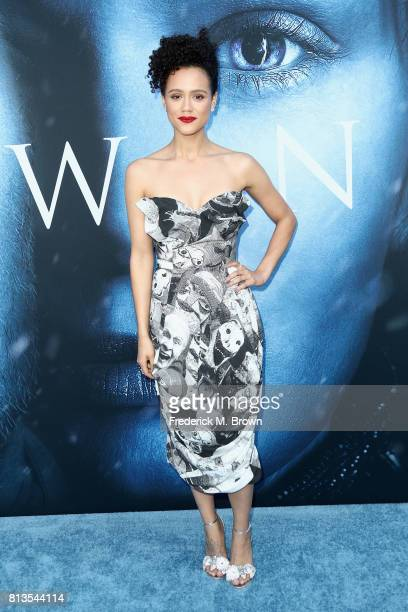 Actor Nathalie Emmanuel attends the premiere of HBO's 'Game Of Thrones' season 7 at Walt Disney Concert Hall on July 12 2017 in Los Angeles California
