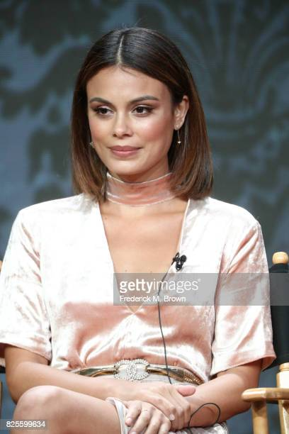 Actor Nathalie Kelley of 'Dynasty' speaks onstage during the CW portion of the 2017 Summer Television Critics Association Press Tour at The Beverly...