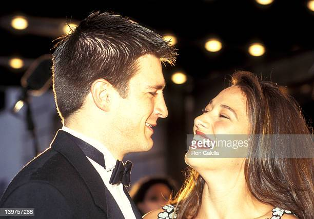 Actor Nathan Fillion and date attend Seventh Annual Soap Opera Update Awards on September 28 1996 at the Manhattan Center Studios in New York City