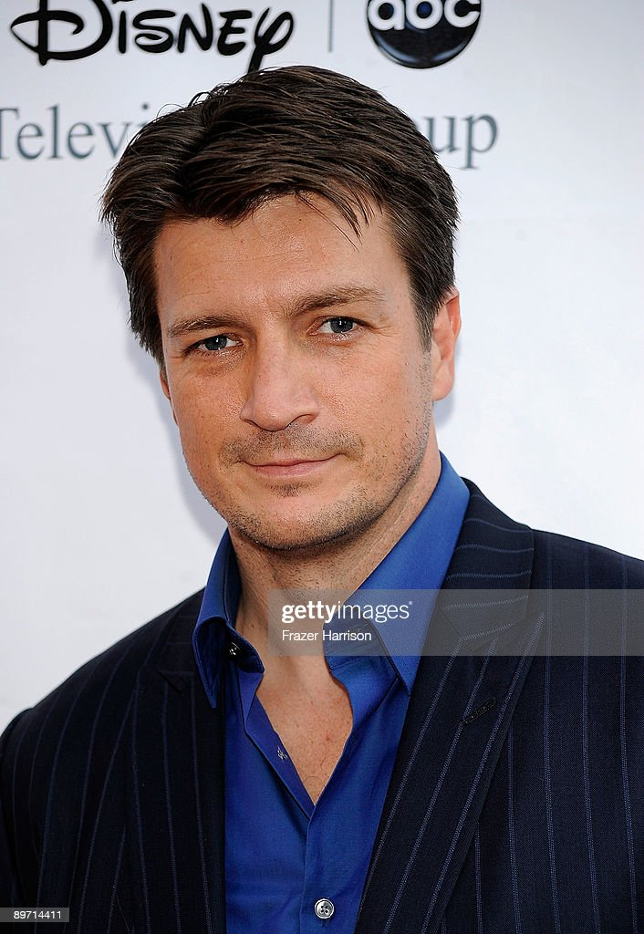 Actor Nathan Fillion arrives at Disney-ABC Television Group Summer Press Tour Party at The Langham Hotel on August 8, 2009 in Pasadena, California.