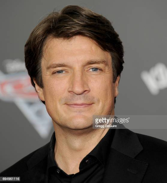 Actor Nathan Fillion arrives at the premiere of Disney And Pixar's 'Cars 3' at Anaheim Convention Center on June 10 2017 in Anaheim California