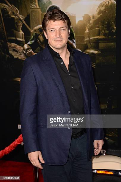 Actor Nathan Fillion arrives at the premiere of Marvel's 'Thor The Dark World' at the El Capitan Theatre on November 4 2013 in Hollywood California