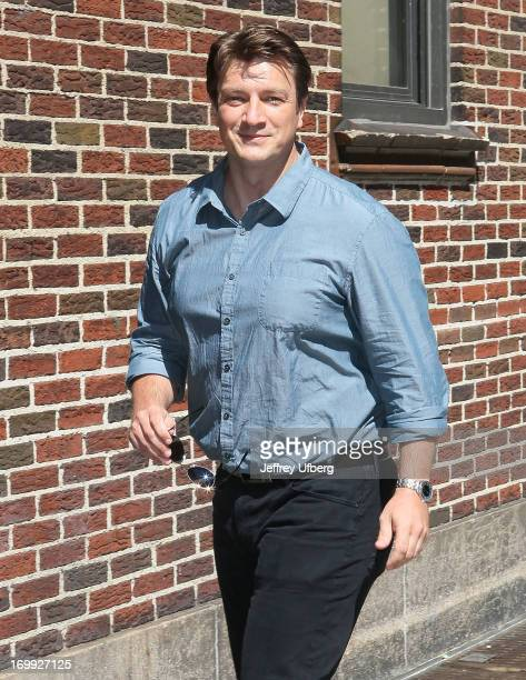Actor Nathan Fillion arrives to 'Late Show with David Letterman' at Ed Sullivan Theater on June 4 2013 in New York City