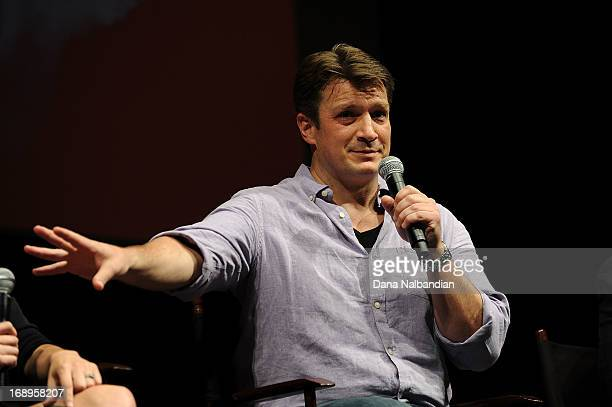 Actor Nathan Fillion at the Seattle Film Festival opening night gala at McCaw Hall on May 16 2013 in Seattle Washington