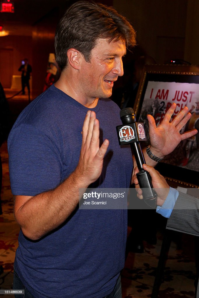 Actor Nathan Fillion attends amfAR Cinema Against AIDS TIFF 2012 during the 2012 Toronto International Film Festival at Shangri-La Hotel on September 7, 2012 in Toronto, Canada.