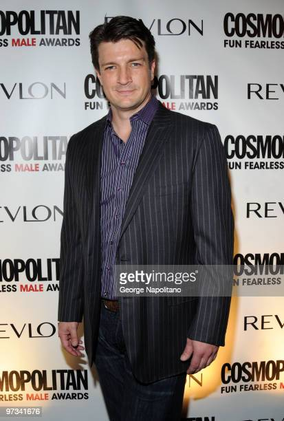 Actor Nathan Fillion attends Cosmopolitan Magazine's Fun Fearless Males of 2010 at the Mandarin Oriental Hotel on March 1 2010 in New York City