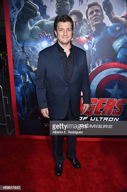 Actor Nathan Fillion attends the world premiere of Marvel's 'Avengers Age Of Ultron' at the Dolby Theatre on April 13 2015 in Hollywood California