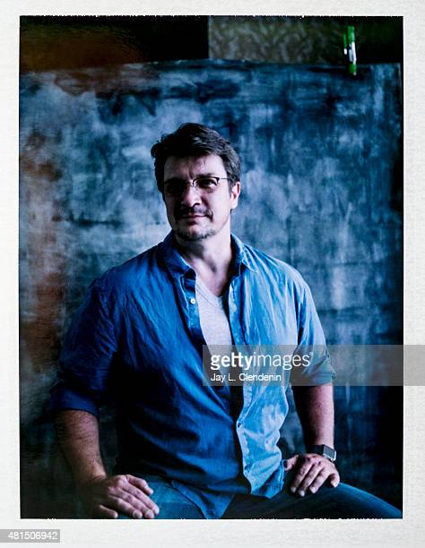 Actor Nathan Fillion of 'Con Man' is photographed on polaroid film at ComicCon International 2015 for Los Angeles Times on July 9 2015 in San Diego...