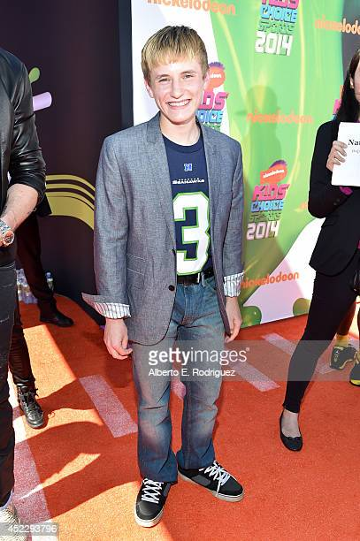 Actor Nathan Gamble attends Nickelodeon Kids' Choice Sports Awards 2014 at UCLA's Pauley Pavilion on July 17 2014 in Los Angeles California