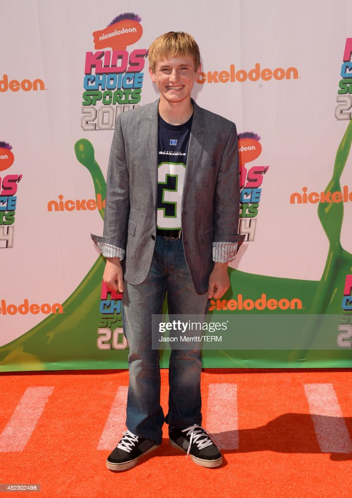 Actor <a gi-track='captionPersonalityLinkClicked' href=/galleries/search?phrase=Nathan+Gamble&family=editorial&specificpeople=631276 ng-click='$event.stopPropagation()'>Nathan Gamble</a> attends Nickelodeon Kids' Choice Sports Awards 2014 at UCLA's Pauley Pavilion on July 17, 2014 in Los Angeles, California.