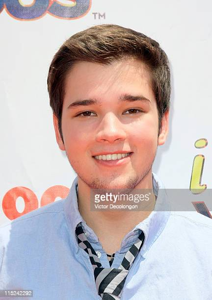 Actor Nathan Kress arrives for the Nickelodeon's 'iParty With Victorious' Summer Party on June 4 2011 in West Hollywood California