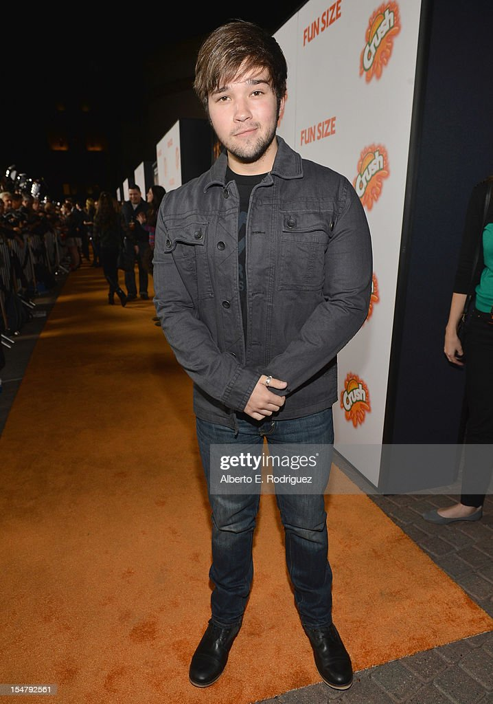 Actor Nathan Kress arrives to the premiere of Paramount Pictures' 'Fun Size' at Paramount Theater on the Paramount Studios lot on October 25, 2012 in Hollywood, California.