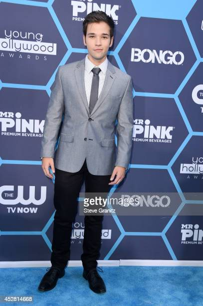 Actor Nathan Kress attends the 2014 Young Hollywood Awards held at The Wiltern on July 27 2014 in Los Angeles California