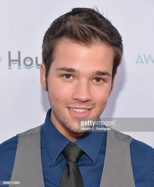 Actor Nathan Kress attends the LA Family Housing Awards 2014 at The Lot on April 24 2014 in West Hollywood California