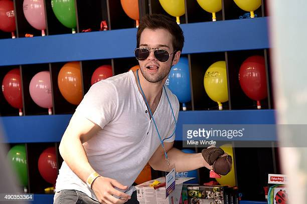 Actor Nathan Kress attends the Mattel Party On The Pier at Santa Monica Pier on September 27 2015 in Santa Monica California