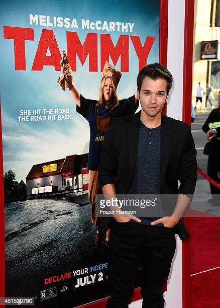 Actor Nathan Kress attends the premiere of Warner Bros Pictures' 'Tammy' at TCL Chinese Theatre on June 30 2014 in Hollywood California